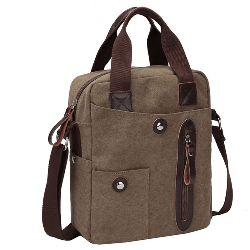 2015 Fashion Vintage Men Messenger Bags Canvas Shoulder Bags Men Business Bag Travel Bag Men Day Pack Free Shipping