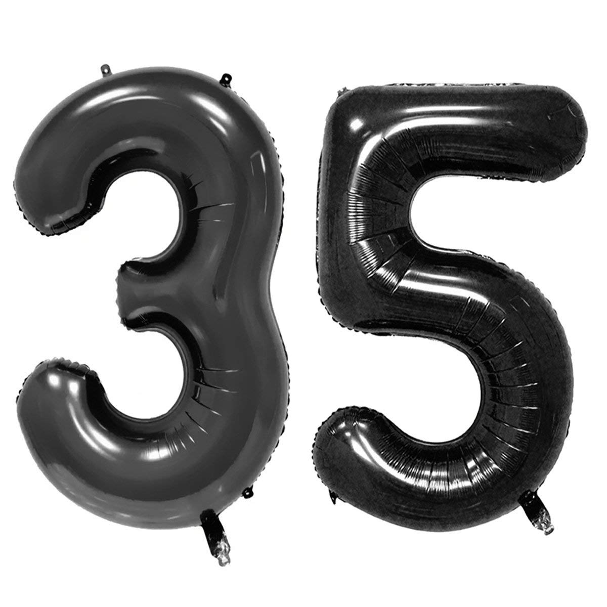 Get Quotations 40inch Black Foil 35 Helium Jumbo Digital Number Balloons 35th Birthday Decoration For Women