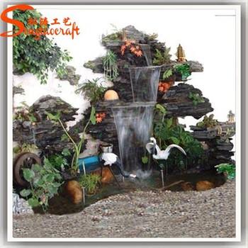 Exceptionnel 2018 Fiberglass Product For Landscape Artificial Decorative Garden Water  Fountains Rocks