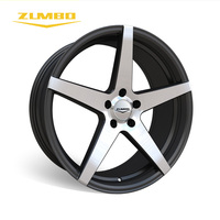 "Zumbo-Z93 Black face machined 18"" 20"" alloy wheels 5 hole alloy wheels rim for cars"