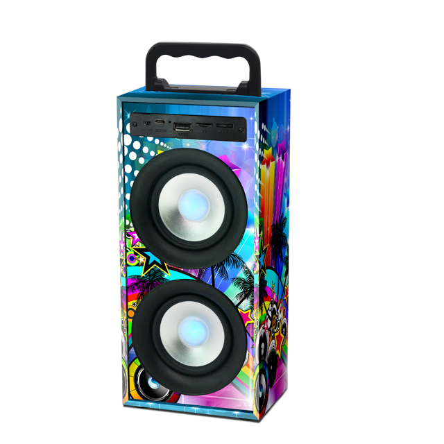 2018 Hot Sale Home Theatre Mobile Phone Stage Wireless Portable Wooden Computer Bluetooth Speaker