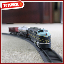Kids Funny B/O Battery Operated 1:87 Plastic Classic Railway Electric Model electrical train for children