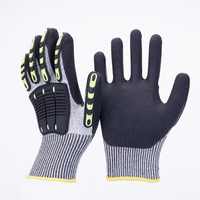 HPPE Sandy Nitrile Coated Oilfield Cut Resistant Anti Vireration Shock TPR Impact Gloves Mechanic Glove