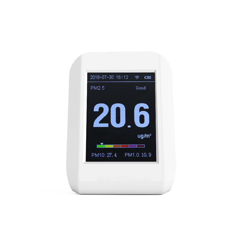 Nieuwe product PM1.0 PM2.5 PM10 thuis air kwaliteit meter luchtvervuiling meter