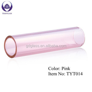 lampwork heat reisistant pink pyrex glass tube 3.3 for sale