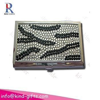 Bling bling rhinestone zebra business card holder buy bulk bling bling rhinestone zebra business card holder colourmoves