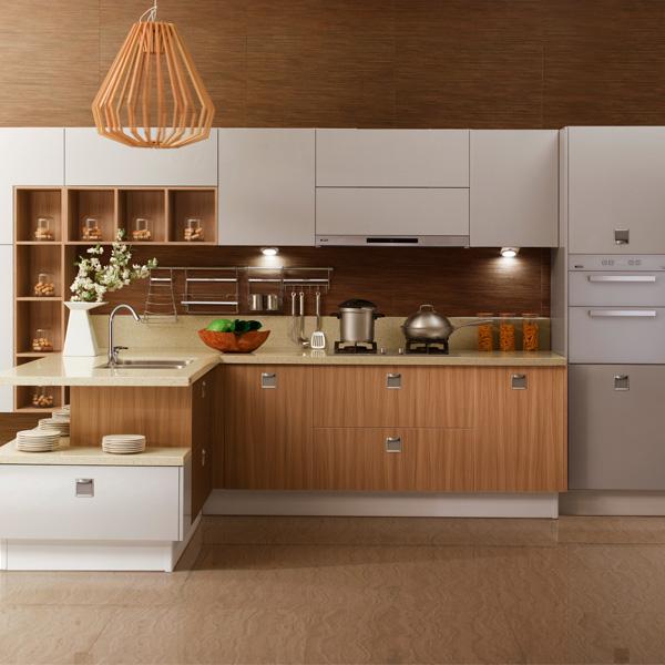 Cheap Wood Kitchen Cabinets: Natural De Madeira Armário De Cozinha Com Armários De