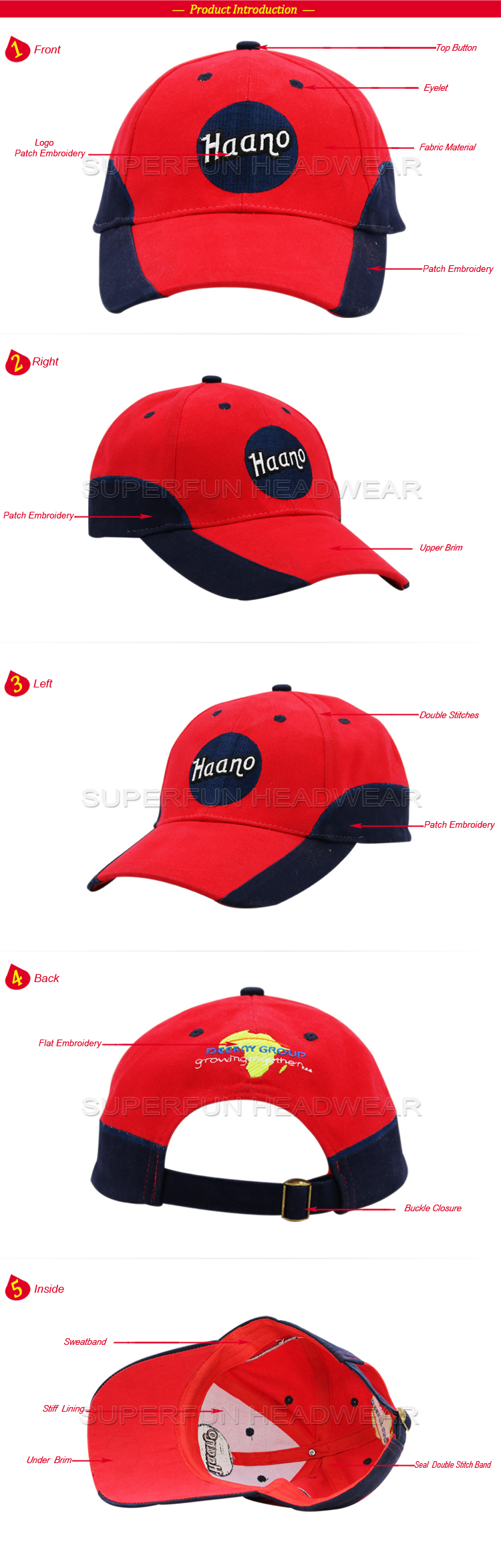 New Design Wholesale Baseball Cap Parts Kids Buy