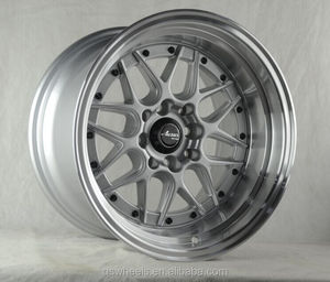 fashion japan racing wheels 4x100 deep dish alloy wheel new design 15 inch deep lip rims