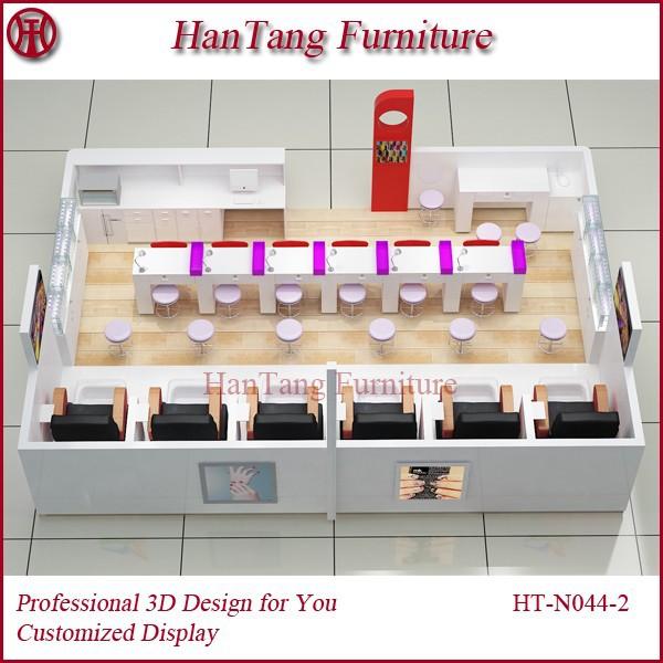 nuevo diseño libre de marmol mall nail soporte kioscobar muebles