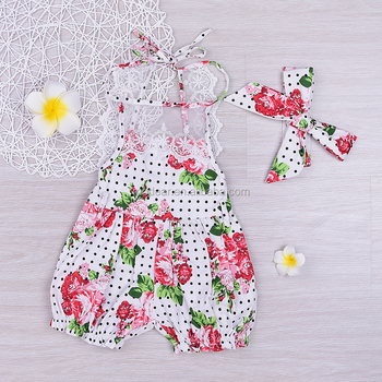 3c2bda8ae96 Newborn Baby Girl Bodysuit Lace Floral Romper Jumpsuit Outfits Backless  Dress
