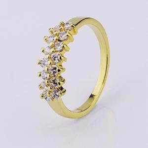 aaa cubic zircon pave micro gold plating rings women