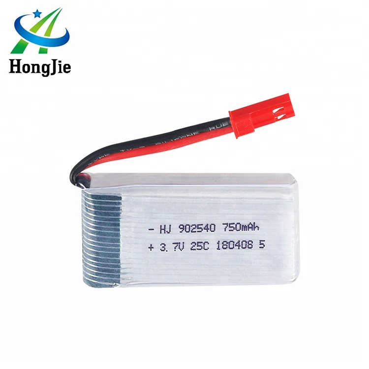 HJ RC Quadcopter Drone Li ion Rechargeable <strong>Battery</strong> 3.7V Ultra Thin Lipo <strong>Battery</strong> 750mAh 902540