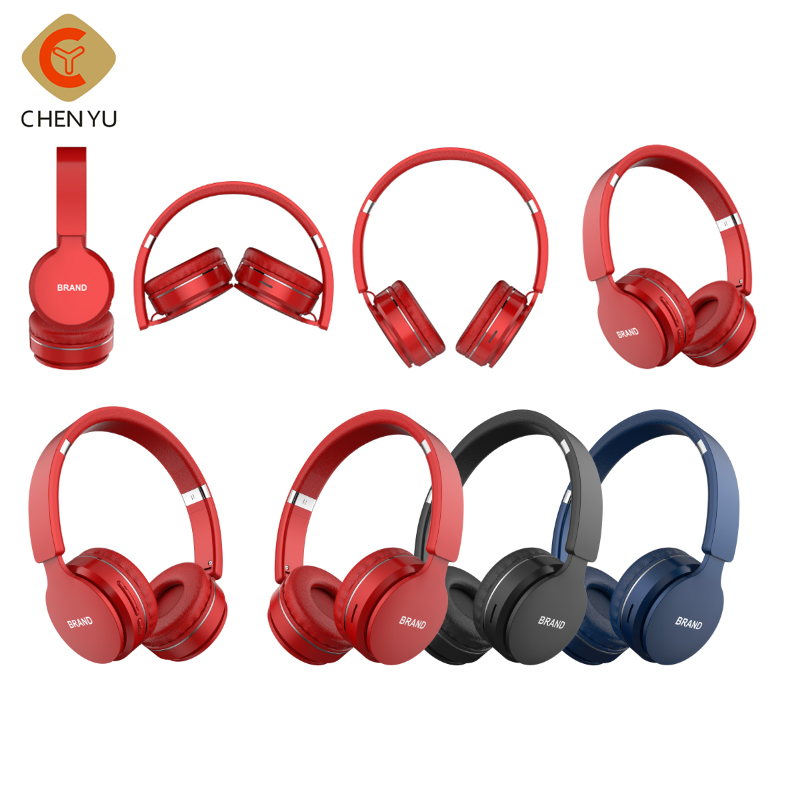 Newest fashion foldable Over Ear  noise cancelling hifi stereo Wireless BT Headset Headphone