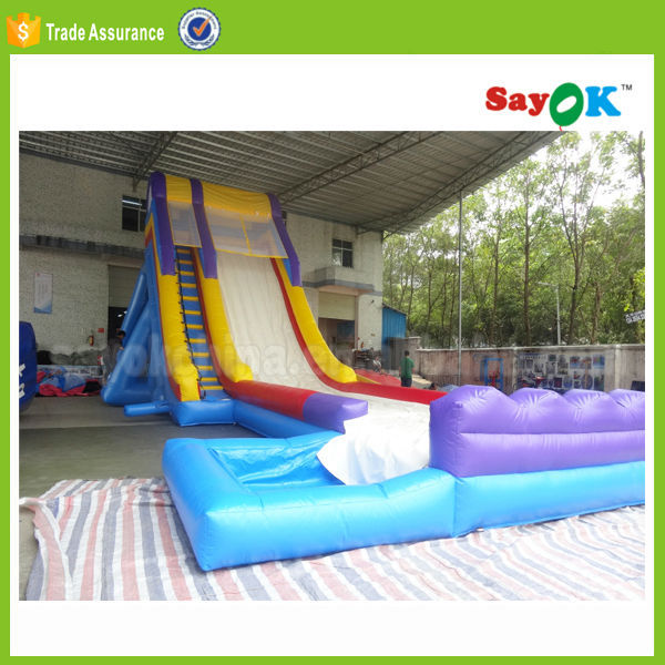 giant adult used inflatable water park slide for adult long water slide for sale