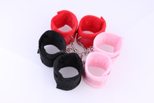 Sex Couple's Toys, SM Products Soft Short Plush Handcuff,Health And Comfortable