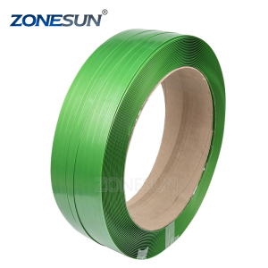 ZONESUN PET strapping band.plastic strapping for band, with Kraft paper core supply