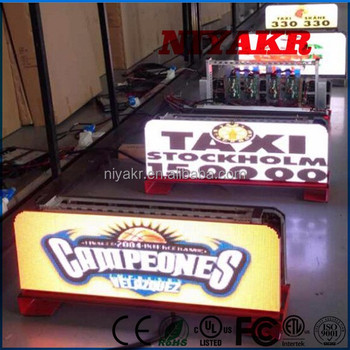 Led Taxi Top Advertising Billboard Sign 3g Input Magnetic Led Taxi/car Top/ Roof