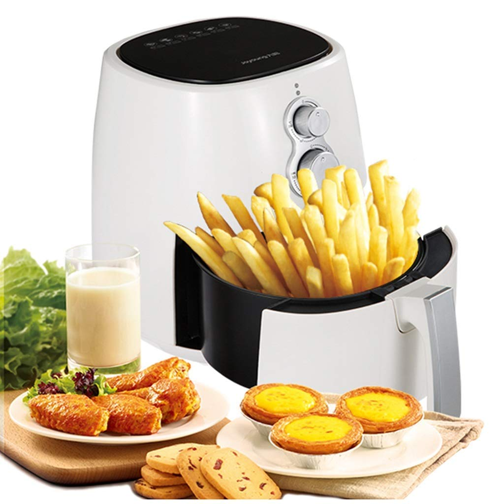 Air fryer Large capacity oil-free low fat Automatic multi-function household electric fryer Oil-free air frying Do KFC at home (Color : White, Size : 242532 cm/91013inch)