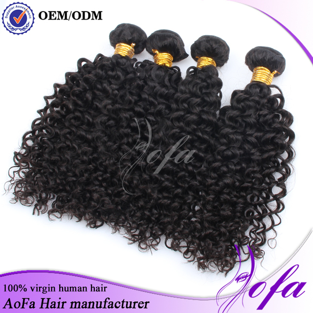 Wholesale top quality 7A human hair brazilian deep curl 1b#,100% unprocessed detangle shed free human hair weft
