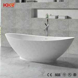KKR Freestanding Solid Surface Bathtubs/ Stone Resin Bathtubs Factory Wholesale