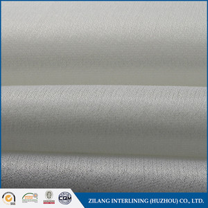 100D 100% Polyester circular knitting interlining woven fusible interlinings fabric