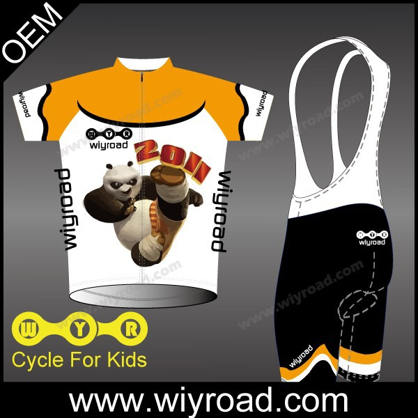 Quick dry children's cycling jerseys and bike suits/boys cycling wear/kids bike wear cycling jerseys