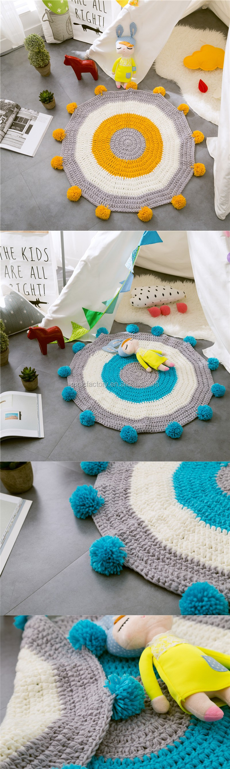 Round 80cm Acrylic Handmade Knitted Mat Kids Floor Crochet Rug Carpet Home Decoration Striped Nordic Style Blanket Buy Kids Floor Rug Hand Knitted Blankets Round Crochet Floor Rug Product On Alibaba Com