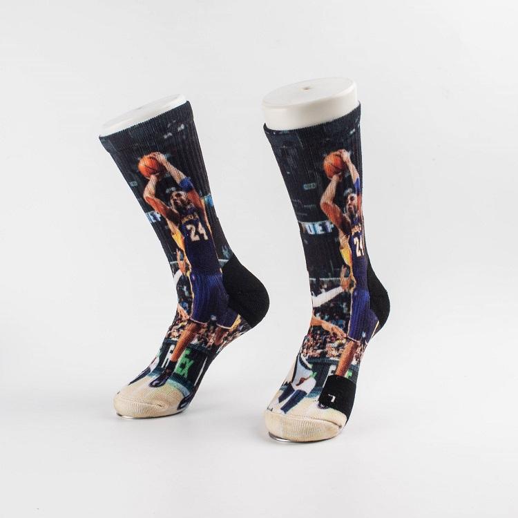 Ysdai custom Spring and winter NBA8 Socks Adult Print Crew Socks Knee High Socks