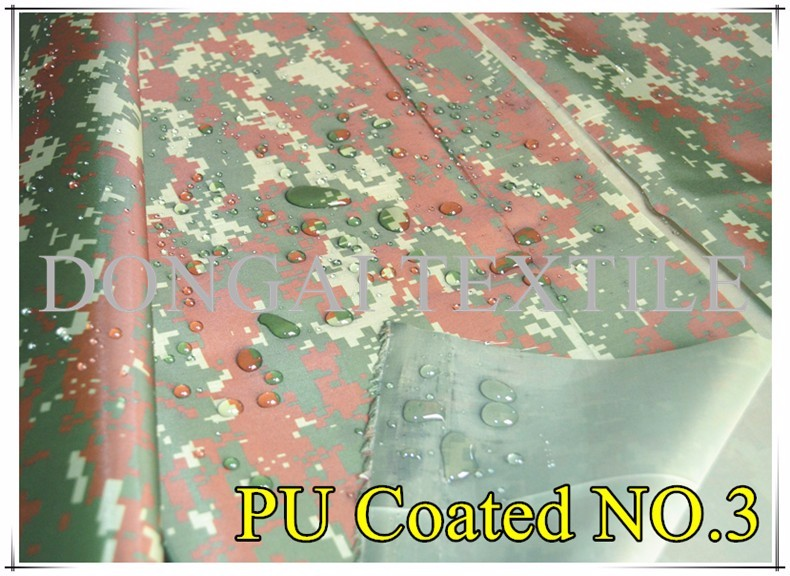 210D waterproof military camouflage Oxford fabric for tent
