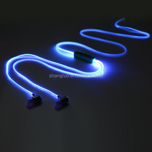 Business gift Colorful luminous earphone Color changing LED Headphones headset with MIC