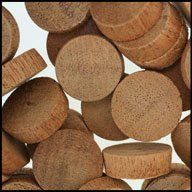 "WIDGETCO 3/4"" Mahogany Wood Plugs, End Grain"