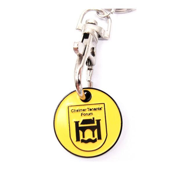 Custom Chinesischen Lieferanten Fabrik Preis Trolley Münze Schlüsselring Für Geschenke