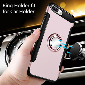 Luxury ring case for coque iphone 6 7 8 plus ring phone cases back cover for iphone 7 8 plus car case