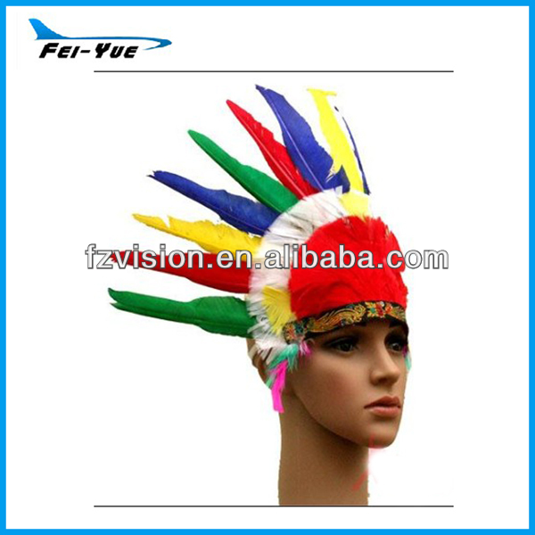 Hot Sale Indian Feather Carnival Headdress