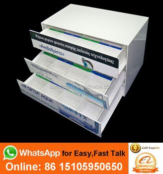 4d5fe9468b Personalizada de color de lente de contacto de pantalla organizador  acrílico lentes de contacto organizador del