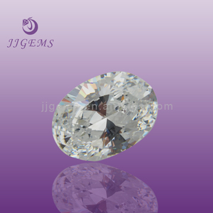 Rough loose white zircon stone/ wholesale cubic zirconia