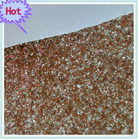 Champagne gold Glitter Wallpaper fabric with large and small particles mixed