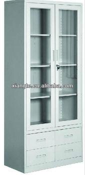 Steel Filing Cabinetmetal Office Cabinet Glass Doorsliding Glass