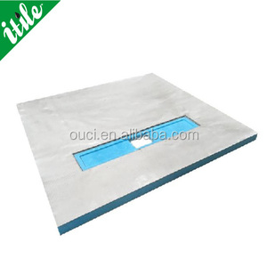 deep shower tray with round drain or liner shower tray for floor