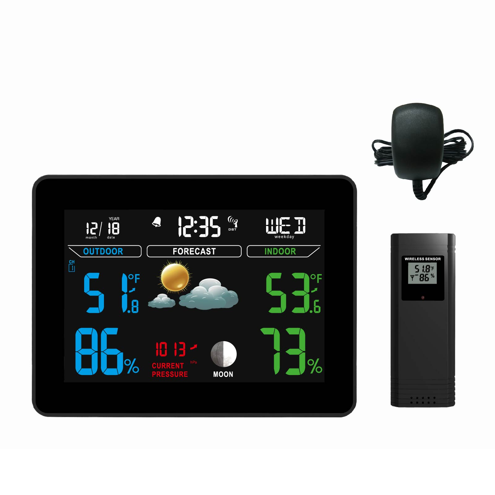 Indoor/outdoor Electronic Thermometer With Black Ice Alert High Resilience Consumer Electronics Vehicle Electronics & Gps