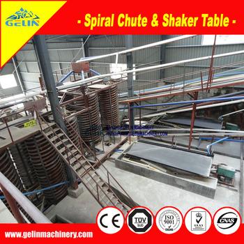 Gravity machines vibrating table & spiral separator for different minerals concentration