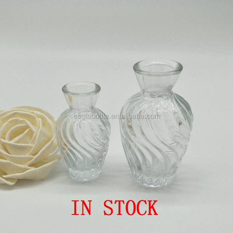100ml clear home decoration empty aroma reed diffuser glass bottle with glass ball cork stoppers