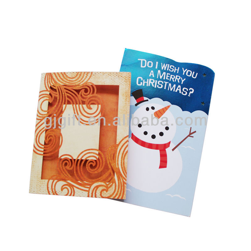 2015 lovely customized folding Christmas paper greeting cards