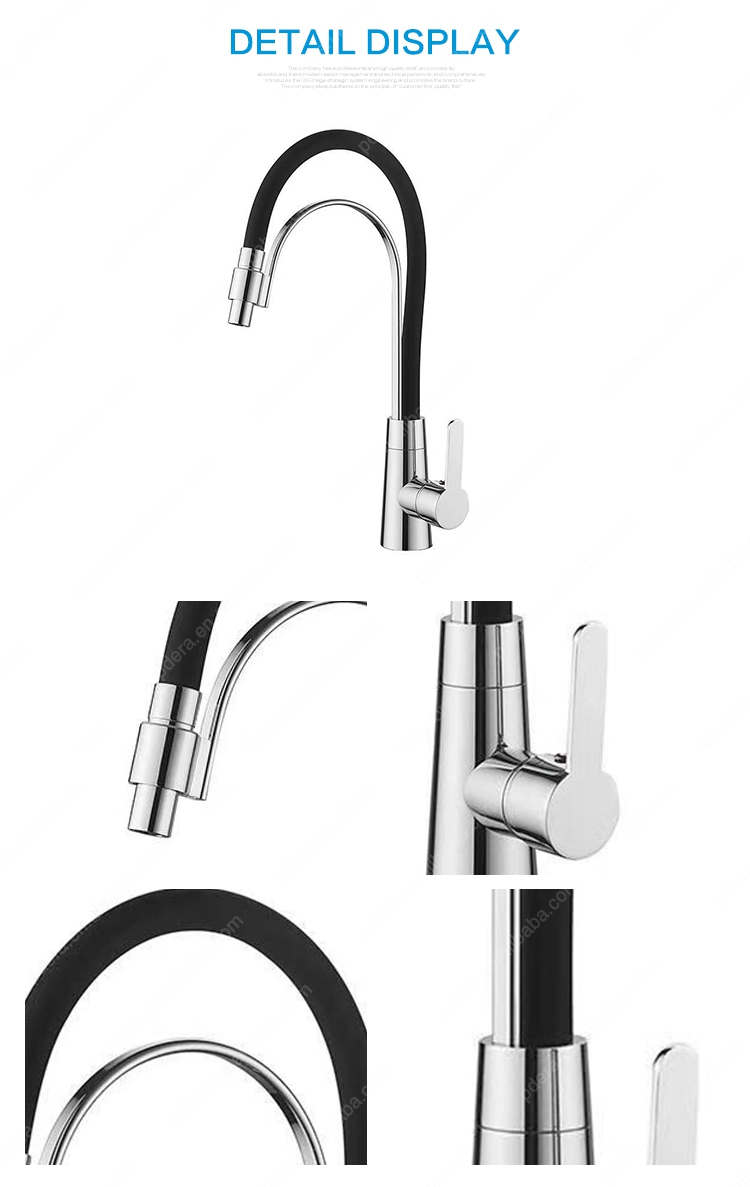 Wholesale single handle deck mounted solid brass flexible kitchen faucet