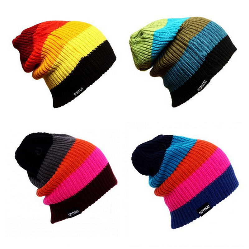 1601ce398dc Get Quotations · Unisex Burton Famous Men Women Skiing Warm Winter Knitting  Skating Skull Cap Ski Hat Beanies Turtleneck