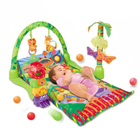 Hot selling newest baby gym play mat happy kid toy