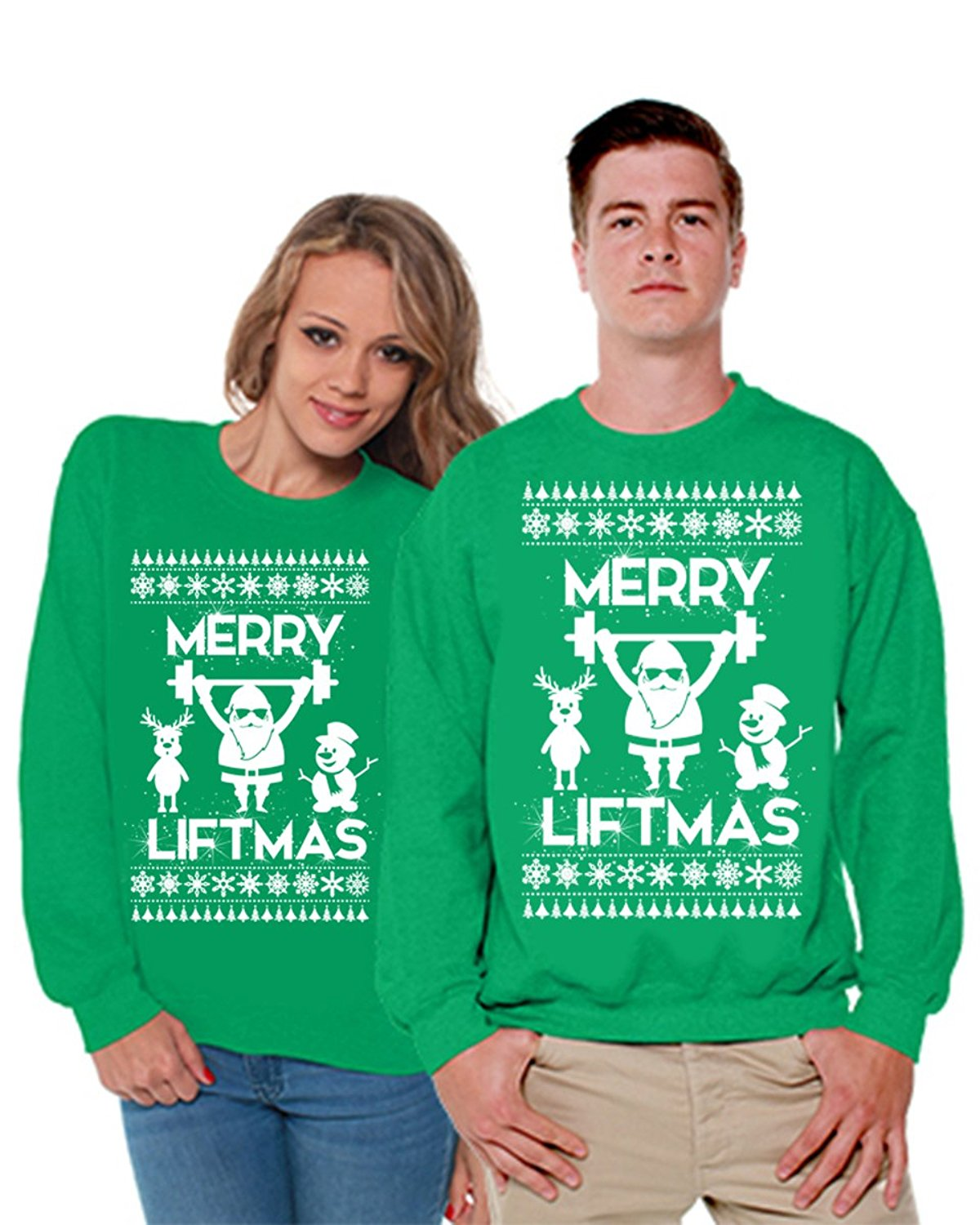 d2fd3ceb0 Get Quotations · Awkward Styles Merry Liftmas Ugly Christmas Sweater  Christmas Matching Couples Sweater Couples Gifts