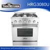 Stainless steel home kitchen gas range electric oven