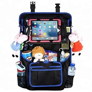 Car Back Seat Organizer Protector Travel Accessories Large Size Toy Storage Bag with Tablet Holder for Kids